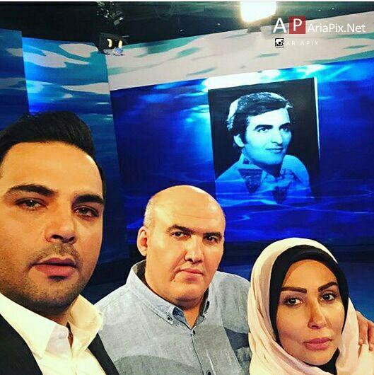 عکسهای سلفی احسان علیخانی با مهمانان برنامه ماه عسل 95
