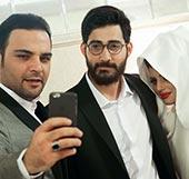 حامد ماه عسل و همسرش