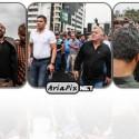 عکسهای تجمع اهالی ورزش و هواداران هادی نوروزی مقابل بیمارستان پس از فوتش