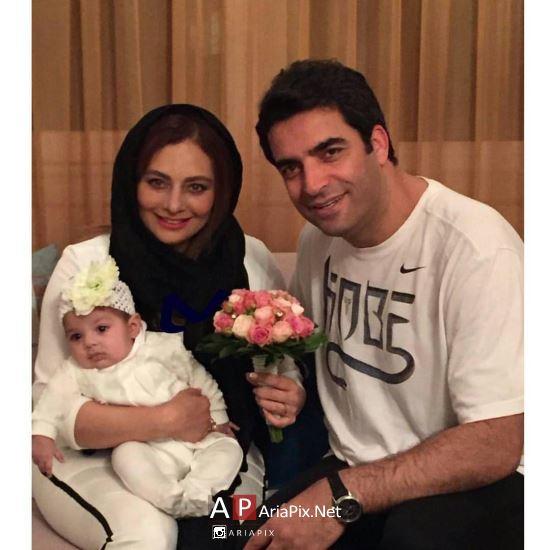 یکتا ناصر و همسرش و فرزندش