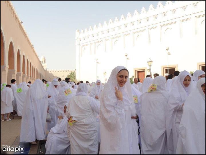 خاطره حاتمی و لیلا بلوکات در سفر به حج خانه خدا