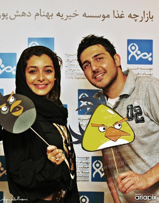 محمدرضا غفاری و مهرداد صدیقیان هنرمندان عیادت کودکان سرطانی