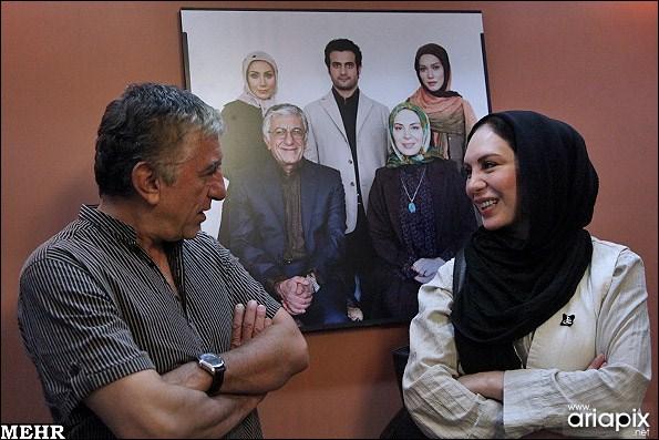 عکسهای نشست خبری سریال راه طولانی با افسانه بایگان و رضا کیانیان