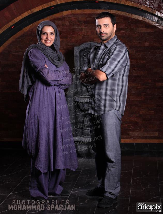امین زندگانی و همسرش الیکا  عبدالرزاقی