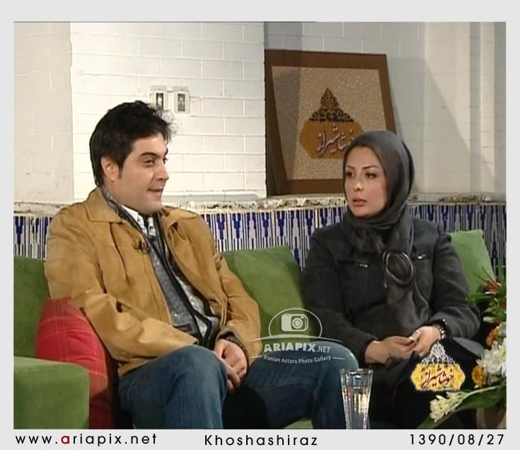 Niousha Zeighami تصاویر نیوشا ضیغمی در کنار همسرش در یک برنامه زنده تلویزیونی www.TAFRIHI.com