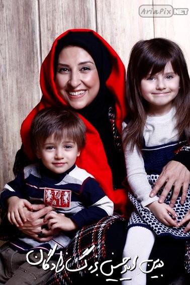 عکسهای بازیگران به همراه فرزندانشان