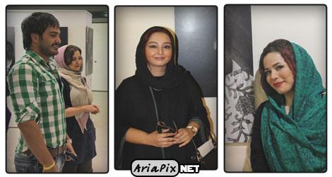 عکسهای نمایشگاه عکس هنرمندان با حضور مهراوه و ملیکا شریفی نیا,میلاد کی مرام و …