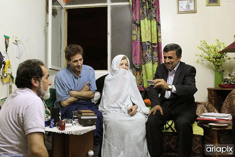 عکسهای عیادت آقای احمدی نژاد از ابوالفضل پورعرب