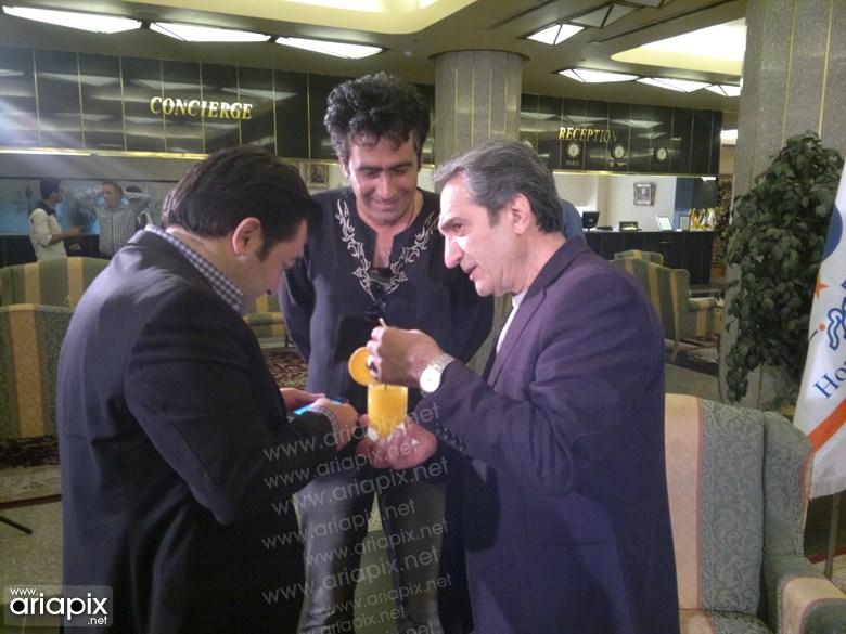 عکسهای بازیگران در پشت صحنه  برنامه صبح خلیج فارس