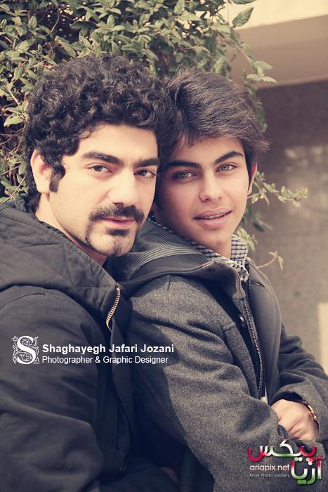 جدیدترین عکسهای ارسلان قاسمی بازیگر نوجوان ایرانی و کاوه آهنگر