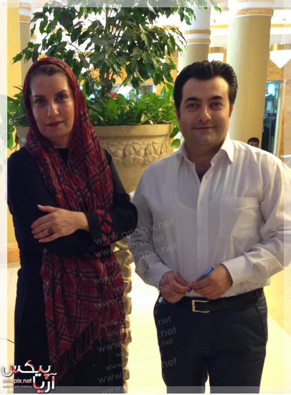 فریبا کوثری,عکس جدید از فریبا کوثری(بازیگر ایرانی) و امیر جوشقانی(مجری) در برنامه صبح خلیج فارس