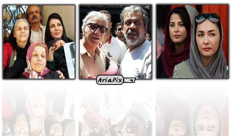 عکسهای تجمع بازیگران و سینما گران مقابل خانه سینما