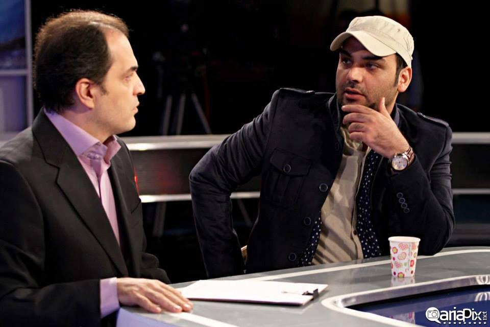 احسان علیخانی در پشت صحنه برنامه ورزش از نگاه دو مهر 92