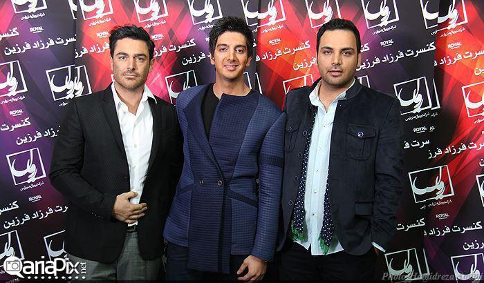 محمد رضا گلزار و احسان علیخانی در کنسرت فرزاد فرزین