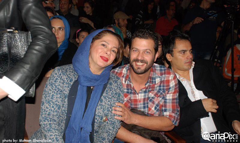 پژمان بازغی و همسرش آذر ماه 92