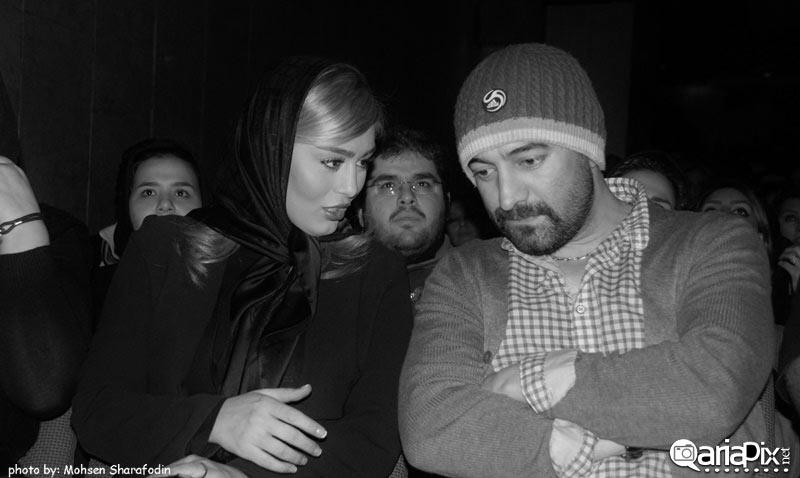 سحر قریشی و مجید صالحی در اکران خصوصی فیلم نازنین
