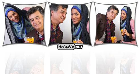 رضا رویگری و همسرش