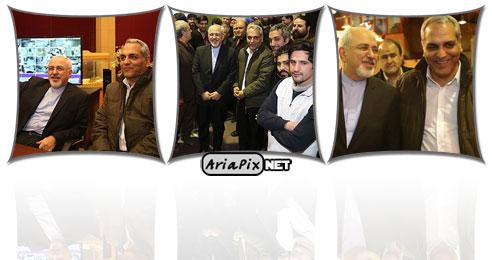 عکسهای بازدید دکتر ظریف با مهران مدیری