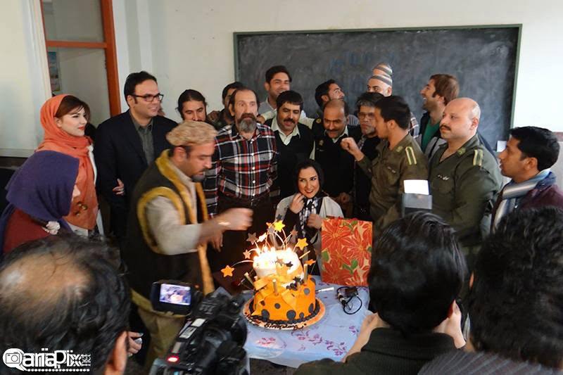 جشن تولد مرجانه گلچین با حضور بازیگران