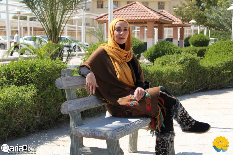 زیبا بروفه , عکسهای زیبا بروفه بازیگر زن در صبح خلیج فارس