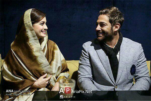 محمدرضا گلزار و دیا میرزا در نشست خبری سلام بمبئی